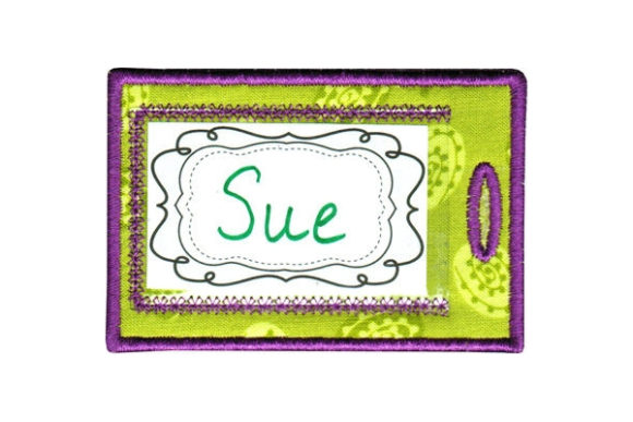 Luggage Tag Sewing & Crafts Embroidery Design By Sue O'Very Designs