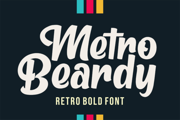 Print on Demand: Metro Beardy Display Font By figuree studio