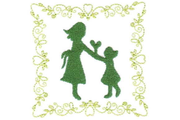 Mother's Love Coaster Mother's Day Embroidery Design By Sue O'Very Designs