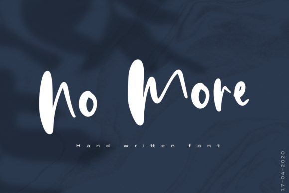 Print on Demand: No More Script & Handwritten Font By PaulaType