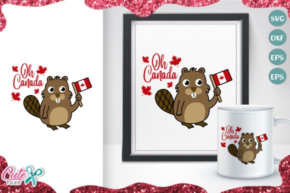 Oh Canada, Beaver for Canada Day Svg Graphic Illustrations By Cute files