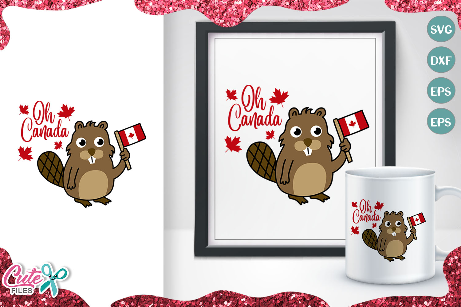 Oh Canada Beaver For Canada Day Svg Graphic By Cute Files