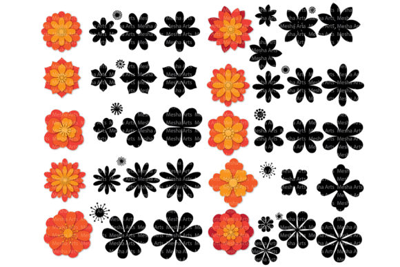 Print on Demand: Paper Flower Templates Graphic Crafts By MeshaArts - Image 2