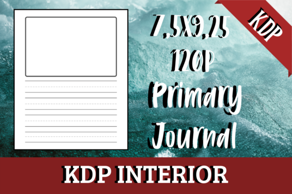 Print on Demand: Primary Journal | KDP Interior Graphic KDP Interiors By Hungry Puppy Studio