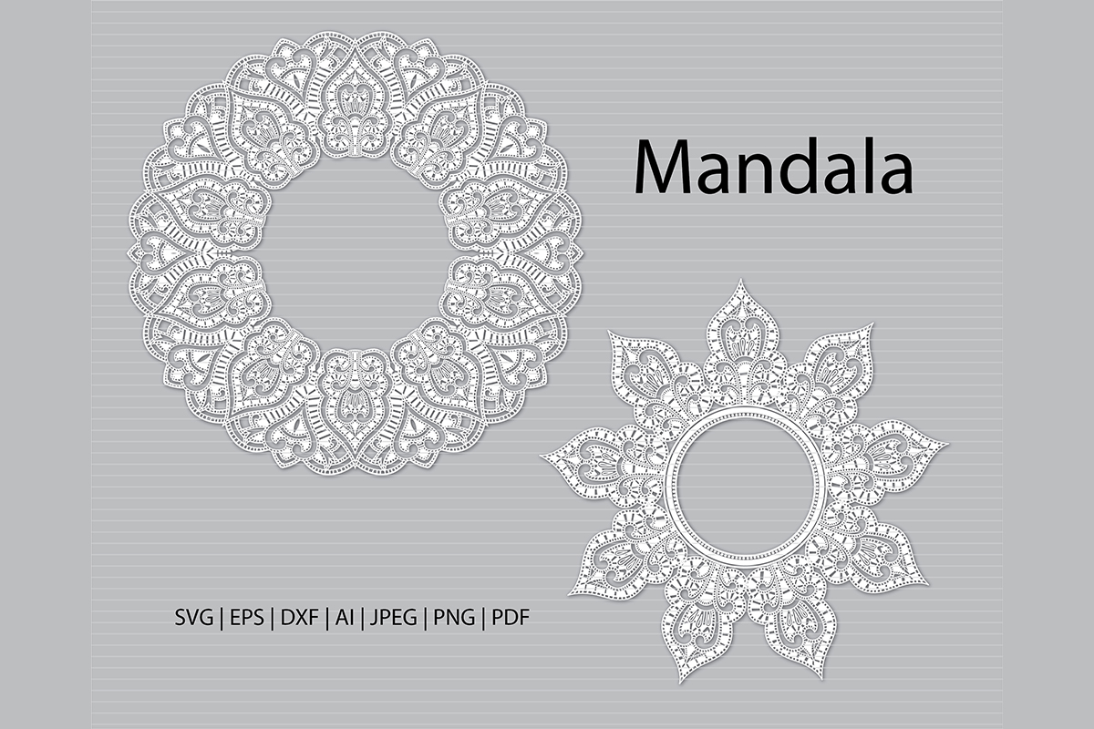 Download Free Printable Mandala Clip Arts Graphic By Meshaarts Creative Fabrica for Cricut Explore, Silhouette and other cutting machines.