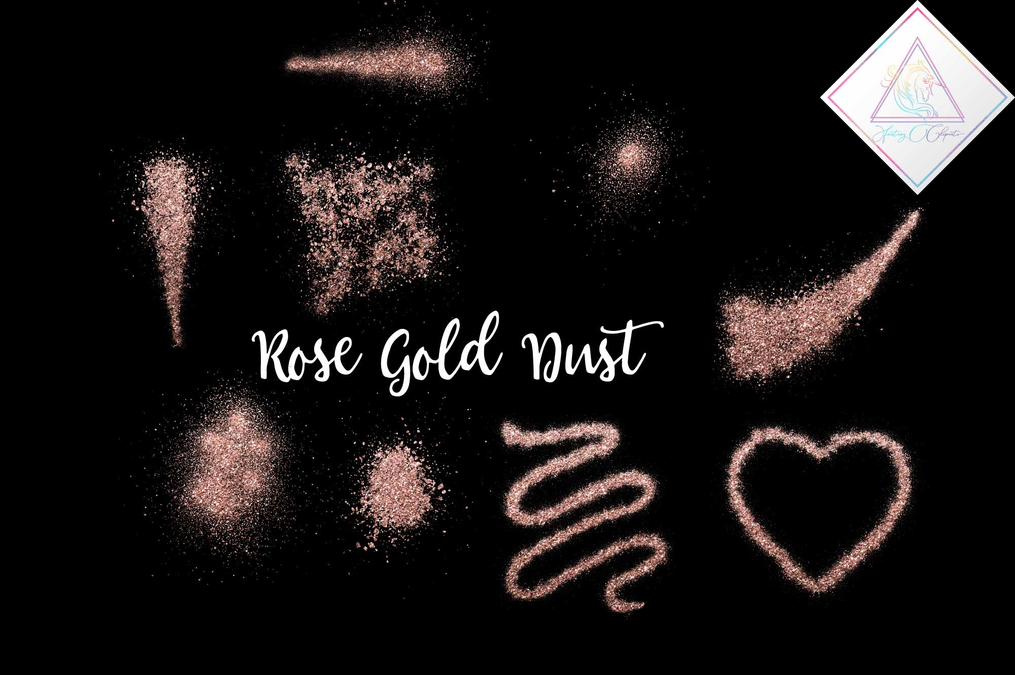 Download Free Rose Gold Glitter Dust Clipart Overlay Grafico Por for Cricut Explore, Silhouette and other cutting machines.