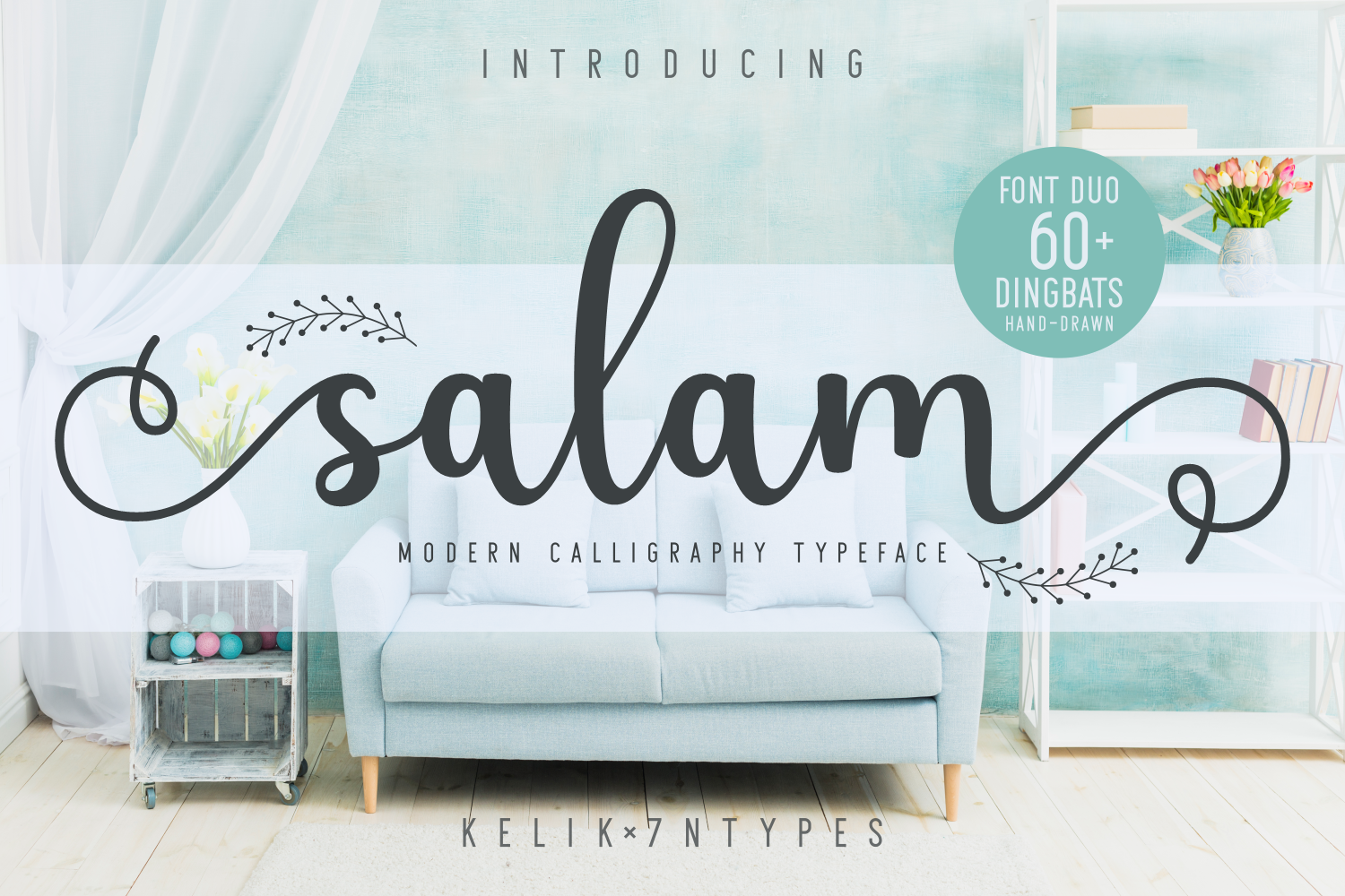 Download Free Salam Font By Kelik 7ntypes Creative Fabrica for Cricut Explore, Silhouette and other cutting machines.
