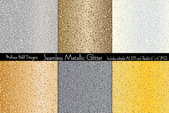 Seamless Metallic Glitter Graphic Textures By Melissa Held Designs