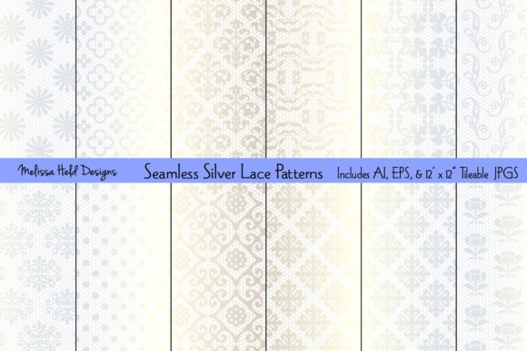 Seamless Silver Lace Patterns Graphic Patterns By Melissa Held Designs