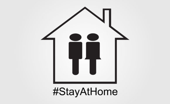 Download Free Stay At Home Graphic By Mahesa Design Creative Fabrica for Cricut Explore, Silhouette and other cutting machines.