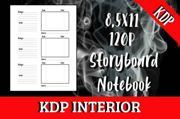 Print on Demand: Storyboard Notebook | KDP Interior Graphic KDP Interiors By Hungry Puppy Studio