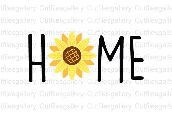 Download Free Sunflower Home Sunflower Graphic By Cutfilesgallery Creative for Cricut Explore, Silhouette and other cutting machines.