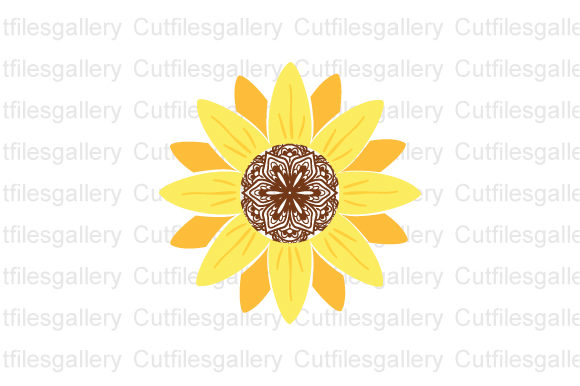 Download Free Sunflower Mandala Sunflower Graphic By Cutfilesgallery for Cricut Explore, Silhouette and other cutting machines.