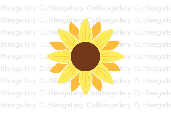 Download Free Sunflower Monogram Sunflower Graphic By Cutfilesgallery SVG Cut Files