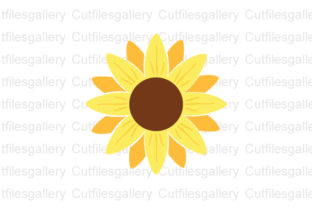 Download Free Sunflower Monogram Sunflower Graphic By Cutfilesgallery for Cricut Explore, Silhouette and other cutting machines.