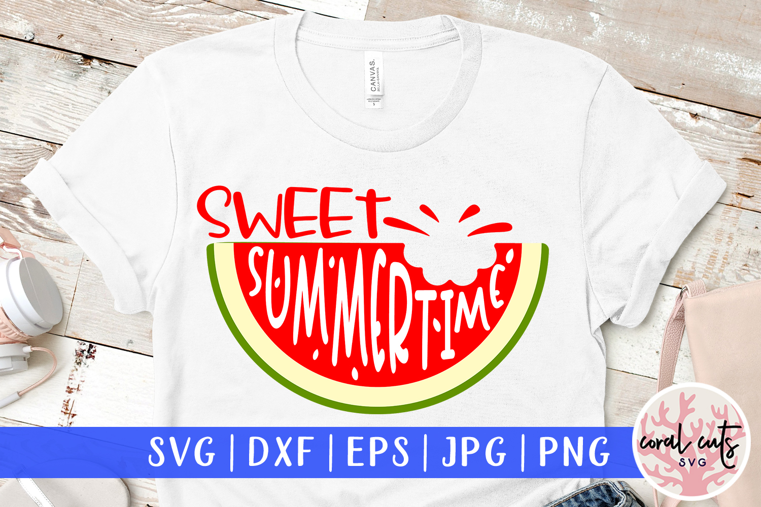 Download Free Sweet Summertime Svg Cut File Graphic By Coralcutssvg Creative for Cricut Explore, Silhouette and other cutting machines.
