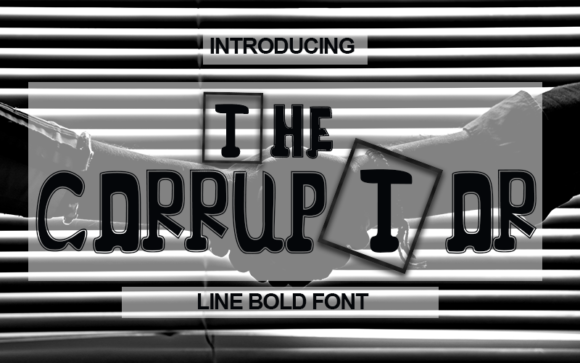 Print on Demand: The Corruptor Display Font By Inermedia STUDIO