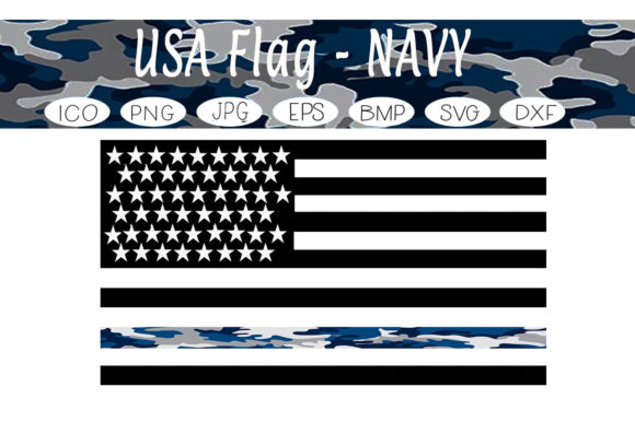 Print on Demand: USA Navy Flag Graphic Print Templates By CapeAirForce
