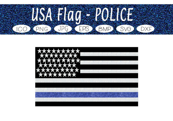 Download Free Usa Police Flag Graphic By Capeairforce Creative Fabrica SVG Cut Files