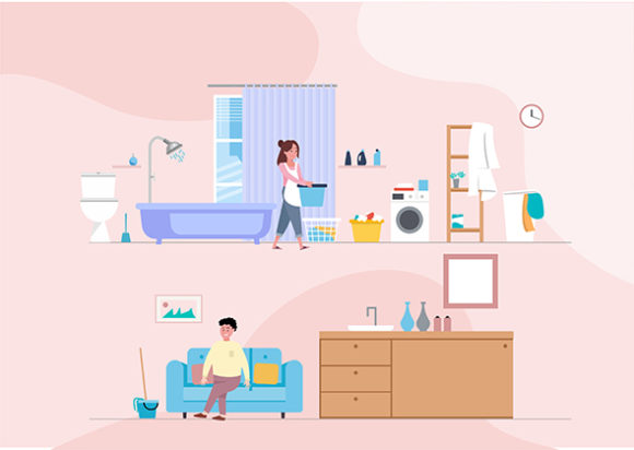 Download Free Vector Minimalis Kitchen Background Graphic By Adevio27 for Cricut Explore, Silhouette and other cutting machines.