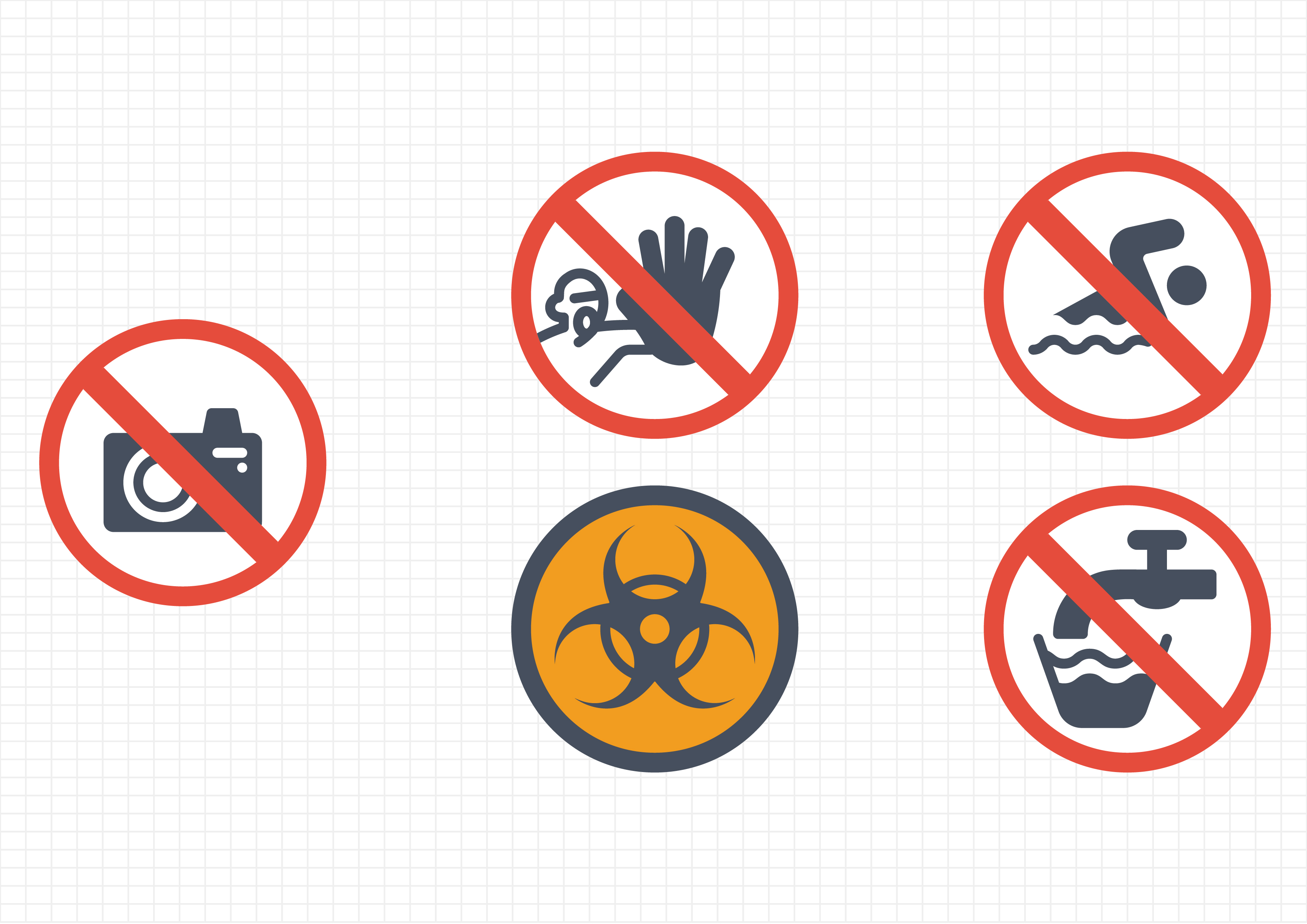 Download Free Warning Signs Graphic By Gantengagif7 Creative Fabrica for Cricut Explore, Silhouette and other cutting machines.