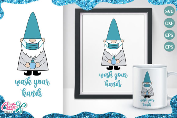 Wash Your Hands Gnome Svg Cut File Graphic Illustrations By Cute files