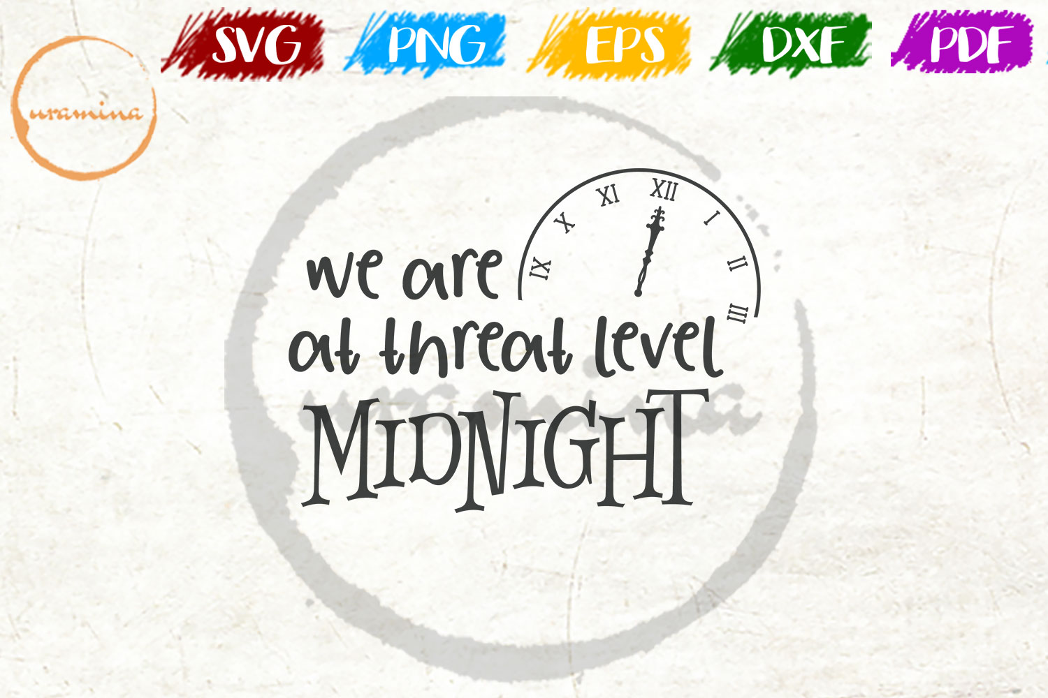Download Free We Are At Threat Level Midnight Graphic By Uramina Creative for Cricut Explore, Silhouette and other cutting machines.