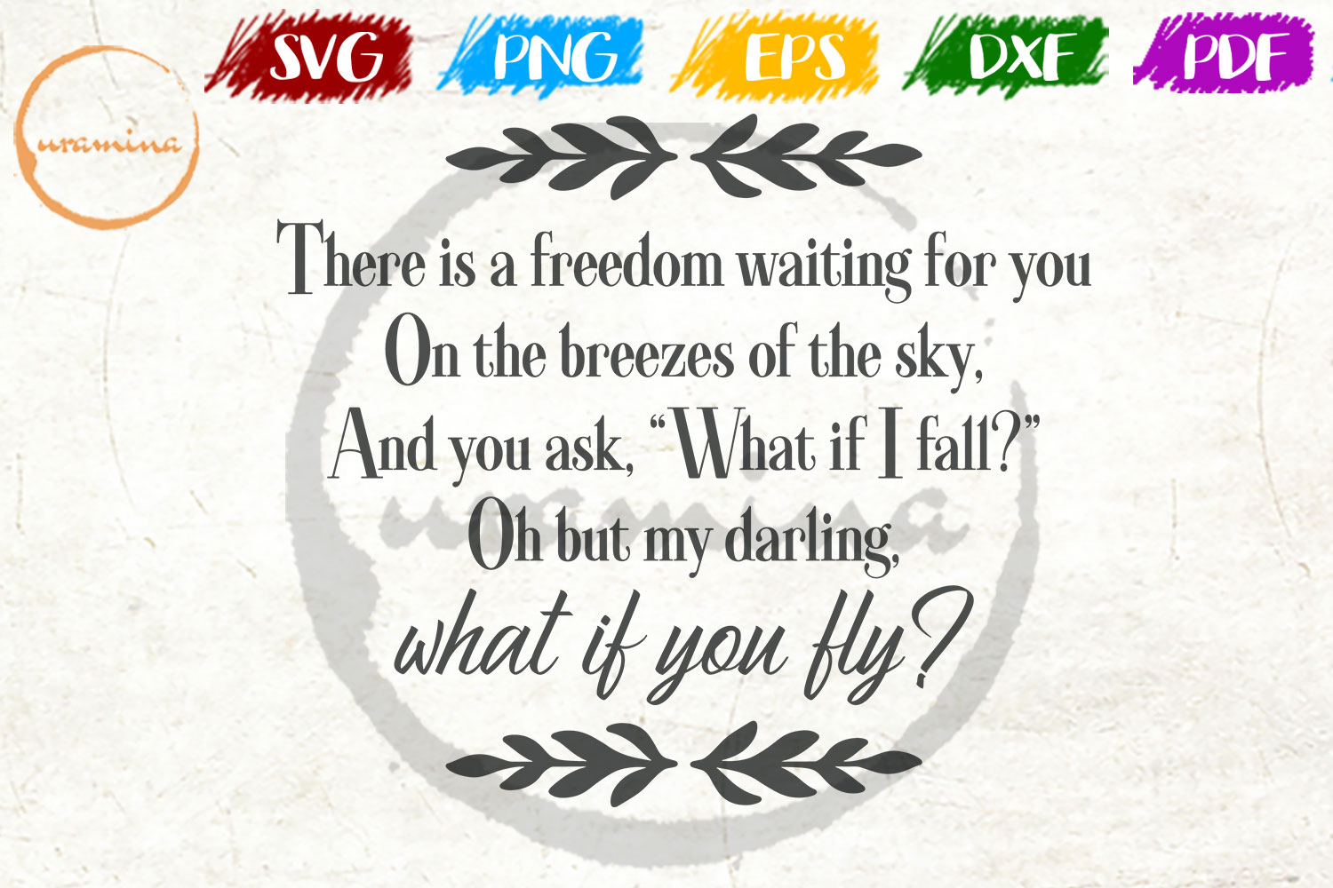 Download Free What If You Fly There Is A Freedom Graphic By Uramina Creative for Cricut Explore, Silhouette and other cutting machines.
