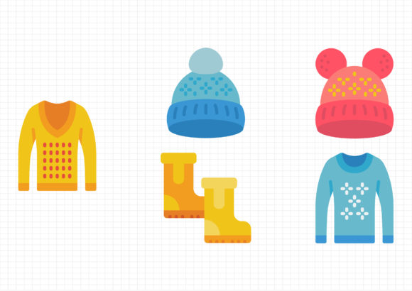 Winter Clothing Graphic Icons By gantengagif7