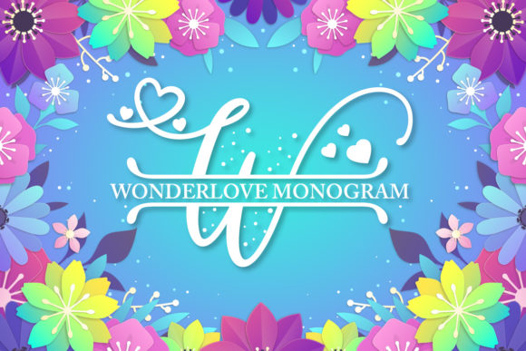 Print on Demand: Wonderlove Monogram Display Font By Almeera Studio