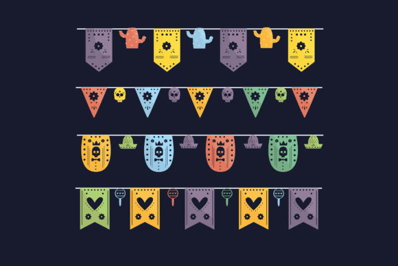 Cinco De Mayo Mexican Bunting Set Graphic By Aprlmp276
