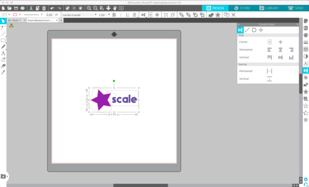 how to scale in silhouette studio