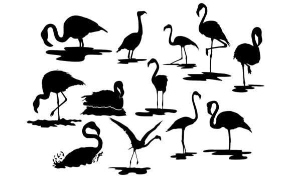 Download Free The Flamingo Bird S Silhouette Bundle Graphic By Arief Sapta for Cricut Explore, Silhouette and other cutting machines.