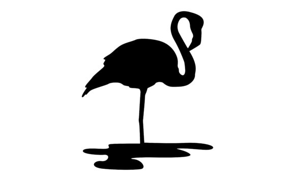 Download Free The Flamingo Bird S Silhouette Graphic By Arief Sapta Adjie for Cricut Explore, Silhouette and other cutting machines.
