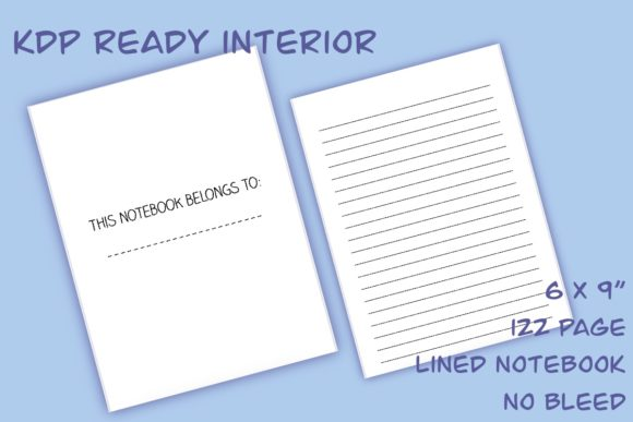 Download Free 6x9 Lined Notebook Kdp Interior Graphic By Roughdraftdesign for Cricut Explore, Silhouette and other cutting machines.
