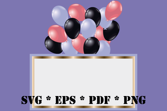 Print on Demand: Air Balloons Frame Background Card Graphic Illustrations By GraphicsFarm