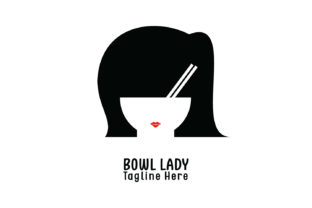 Download Free Bowl Lady Company Logo Vector Graphic By Yuhana Purwanti for Cricut Explore, Silhouette and other cutting machines.