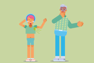 Print on Demand: Characters Summer Vector Illustration Graphic Illustrations By altumfatih