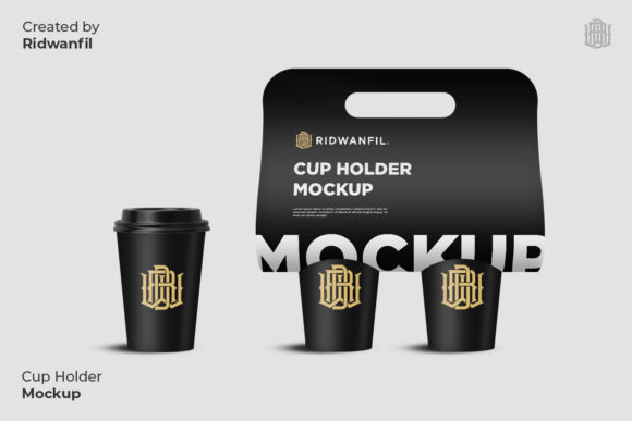 Cup Holder Mockup Coffee Graphic Product Mockups By fadilahridwan69