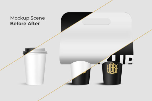 Download Free Cup Holder Mockup Coffee Graphic By Fadilahridwan69 Creative for Cricut Explore, Silhouette and other cutting machines.