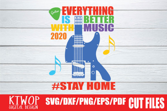 Download Free Everything Is Better With Music 2020 Graphic By Ktwop Creative for Cricut Explore, Silhouette and other cutting machines.