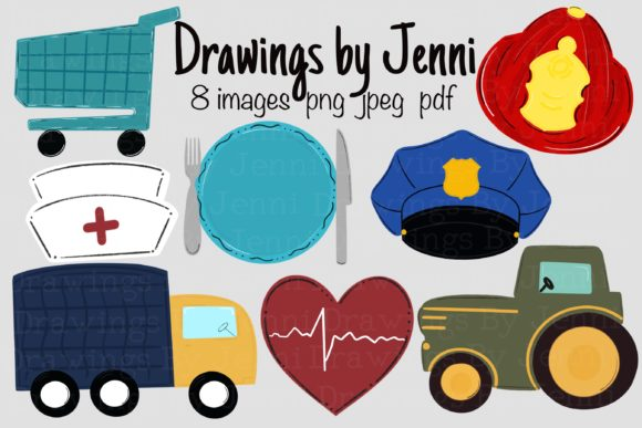 Essential Workers Clipart Graphic Illustrations By DrawingsbyJenni