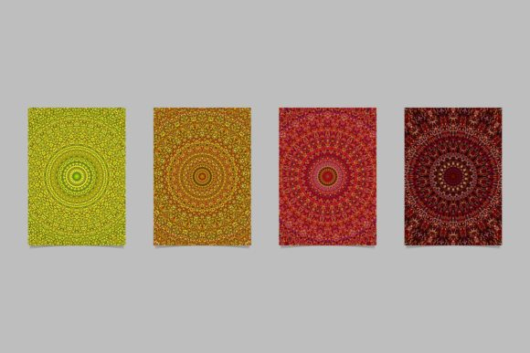 Floral Mandala Page Backgrounds Graphic Print Templates By davidzydd