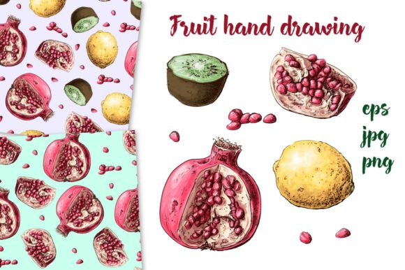 Print on Demand: Fruit Hand Drawing Graphic Illustrations By nicjulia