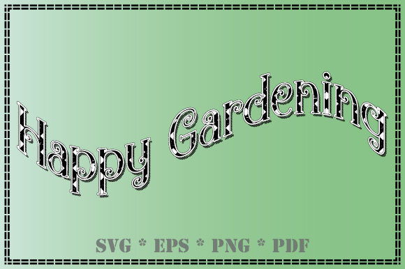 Print on Demand: Garden Happy Gardening Black and White Graphic Illustrations By GraphicsFarm
