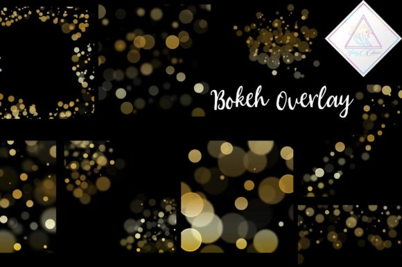Print on Demand: Gold Bokeh Overlay Clipart Graphic Illustrations By fantasycliparts