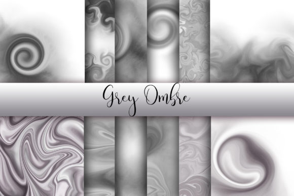 Grey Ombre Watercolor Background Graphic Backgrounds By PinkPearly