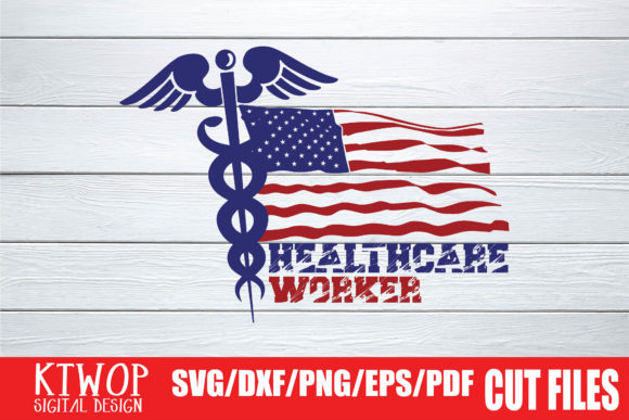 Download Free Healthcare Worker Usa Flag 2020 Graphic By Ktwop Creative Fabrica for Cricut Explore, Silhouette and other cutting machines.