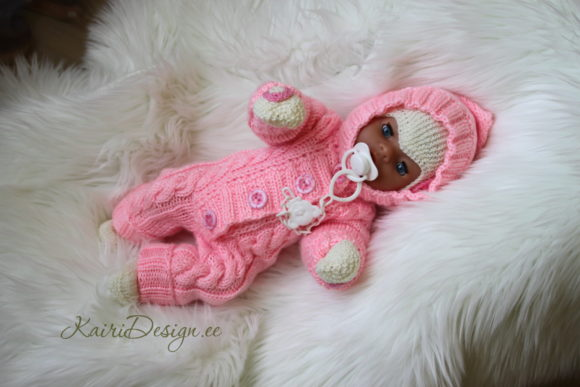 Hand Knitting PDF- Baby Doll Jumpsui Graphic Knitting Patterns By Kairi Mölder