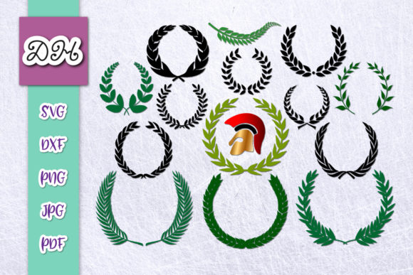 Download Free Laurel Wreath Glory Symbols Bundle Files Graphic By Digitals By SVG Cut Files